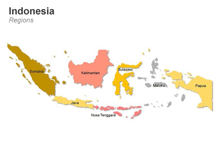 Regions of Indonesia Map