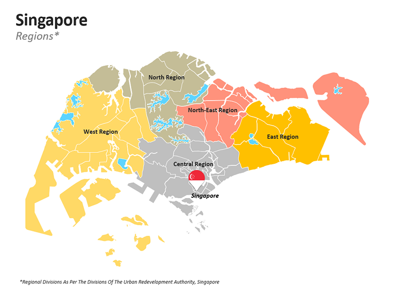 PPT Map of Singapore - Regional