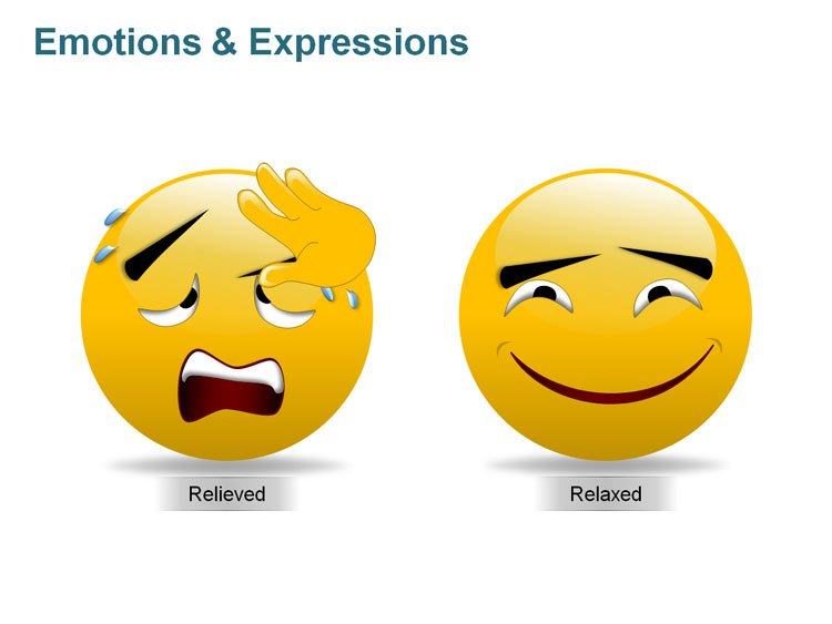 Emotions and Expressions Smiley for PPT