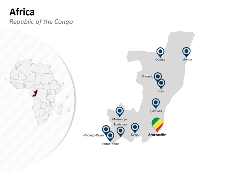 Republic of the Congo - Africa PPT Map