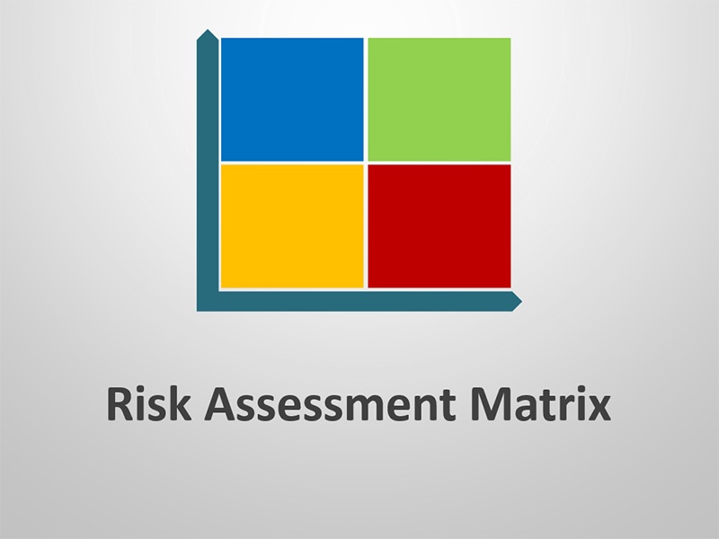 Business Risk Assessment Matrix Diagram PPT Template
