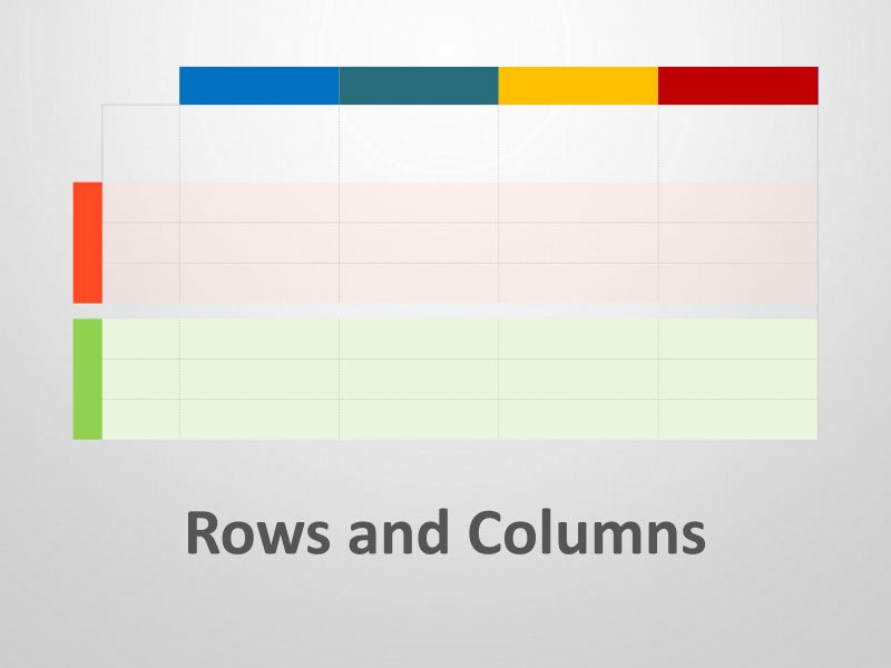 Rows and Columns - Editable PowerPoint Slides