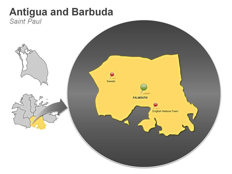 PPT Map of Antigua and Barbuda - Saint Paul