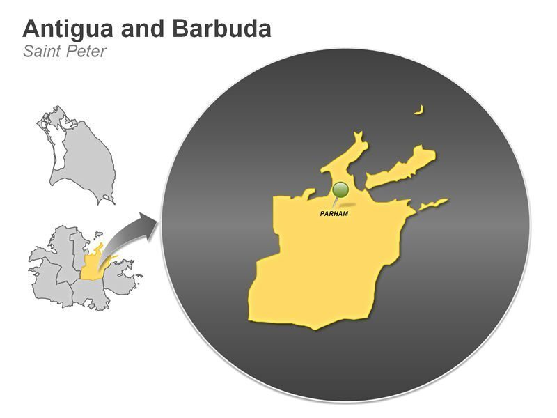 PPT Map of Antigua and Barbuda - Saint Peter