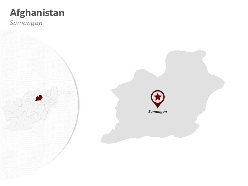 Easy to Edit PPT Afghanistan Map - Samangan