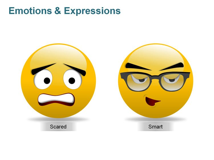 Emotions and Expressions Illustration for PPT