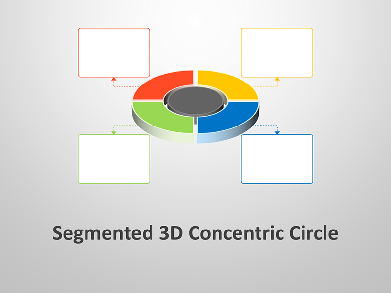 3D Segmented Concentric Circle - PowerPoint Presentation