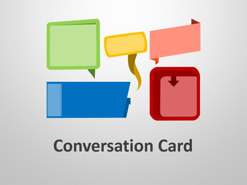 Conversation Card - Editable PowerPoint Presentation