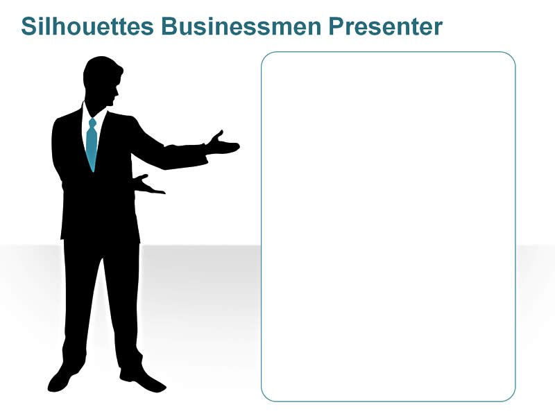 Editable PPT Silhouettes - Professional Highlighting Key Issues