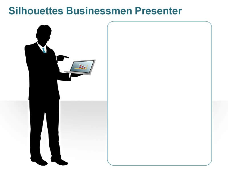 Editable PPT of Silhouettes - Businessmen