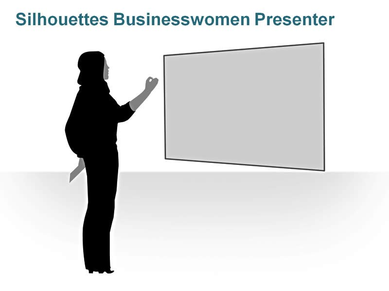 Editable PPT of Silhouettes - Businesswomen