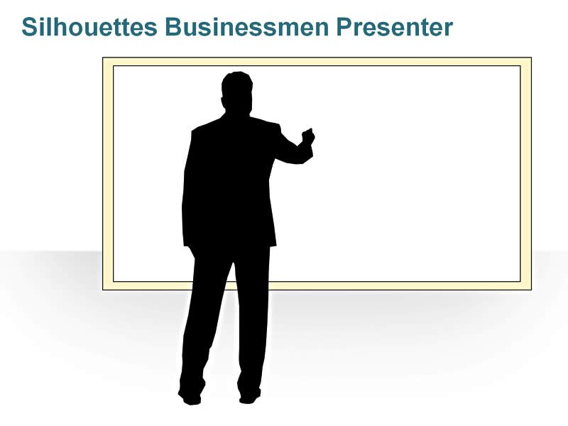 Editable PPT of Silhouettes -Business Presentation