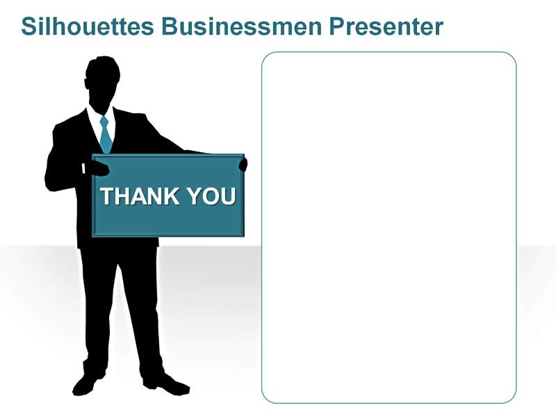 Editable PPT of Business Silhouettes - Thank You