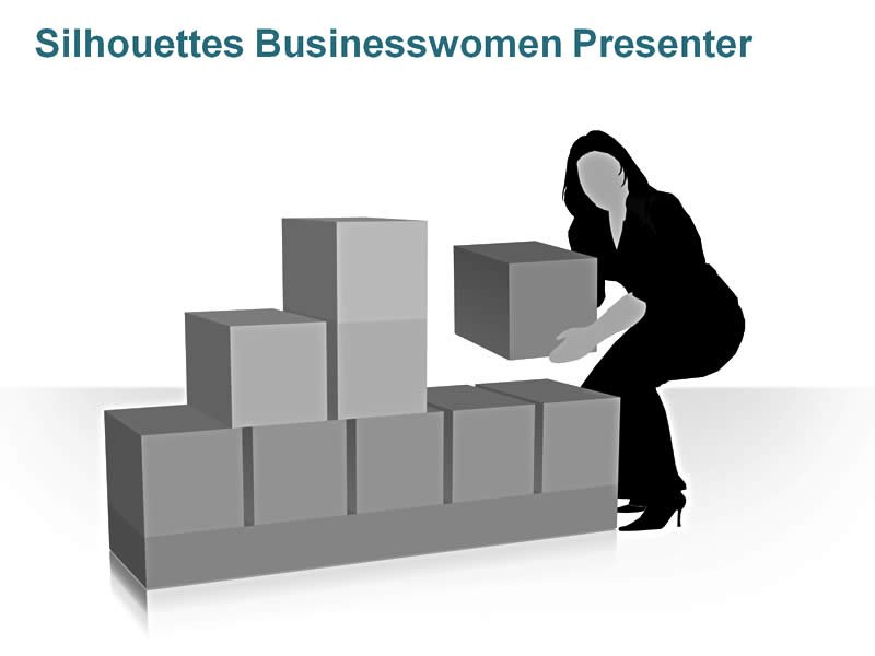 Easy to Edit Silhouettes: Businesswoman Presenter