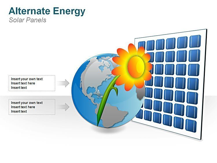 Editable Solar Panel Image for PPT Presentation