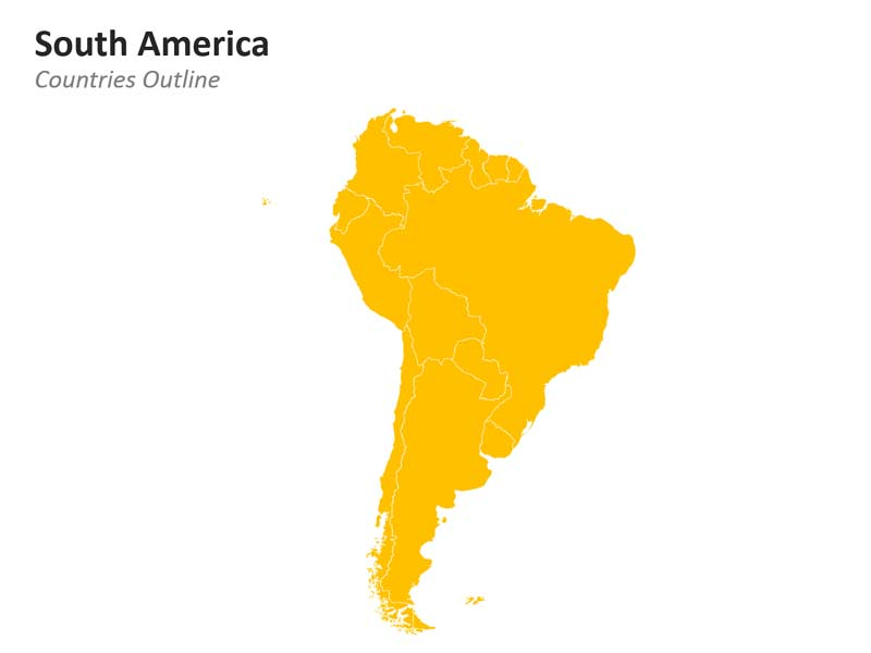 South America Outline PPT Map