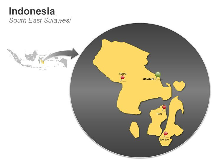 Indonesia - South East Sulawesi Map
