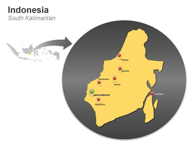 Indonesia - South Kalimantan PPT Map