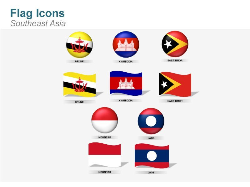 Southeast Asia Flag Icons