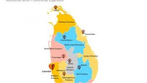 Sri Lanka Provinces PowerPoint Map