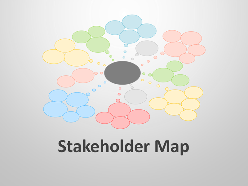 Stakeholder Map Editable PPT