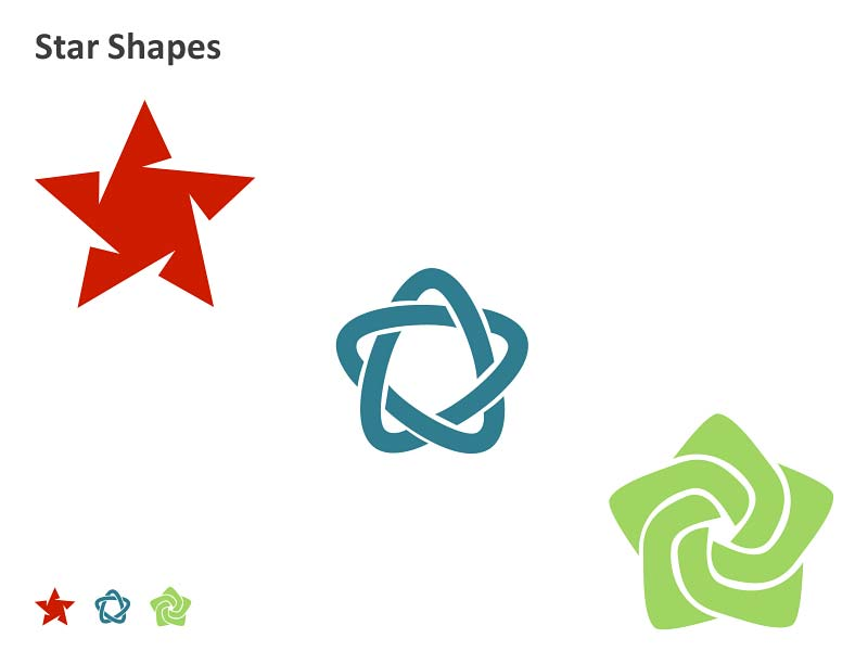 Star Shapes - PowerPoint Presentation
