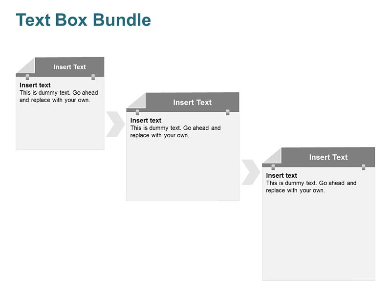 3 Steps Text Box PowerPoint Slide