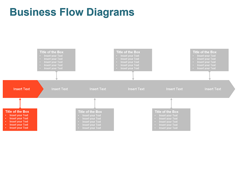 Process Flow Arrow - Editable Vector Graphic