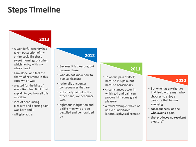 Business Process Timeline Illustration - Editable PowerPoint Slide