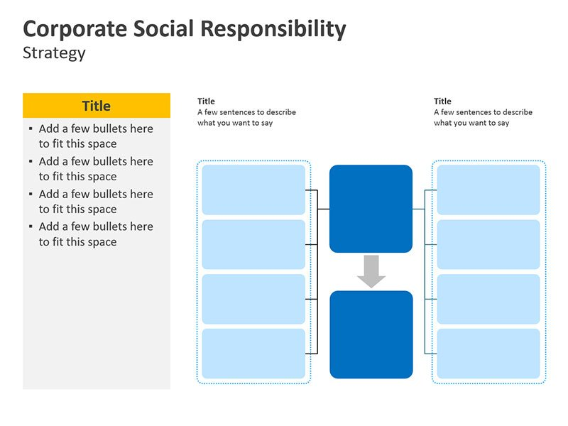 Strategy Diagram for CSR Initiatives PPT Slide