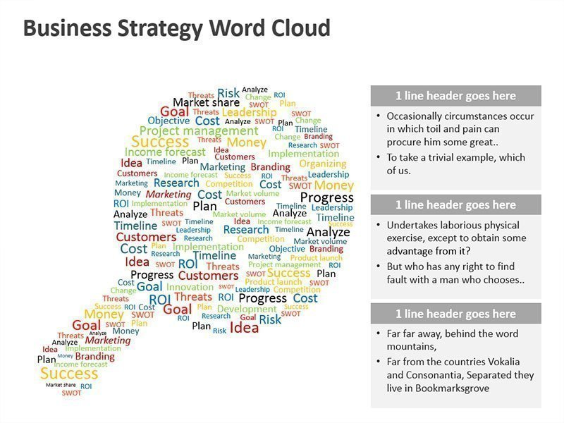 Business Strategy Word Cloud Diagram - PowerPoint Slide