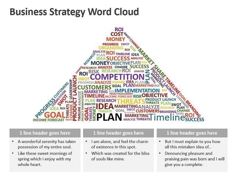 Business Strategy Word Cloud Diagram - PPT Slide