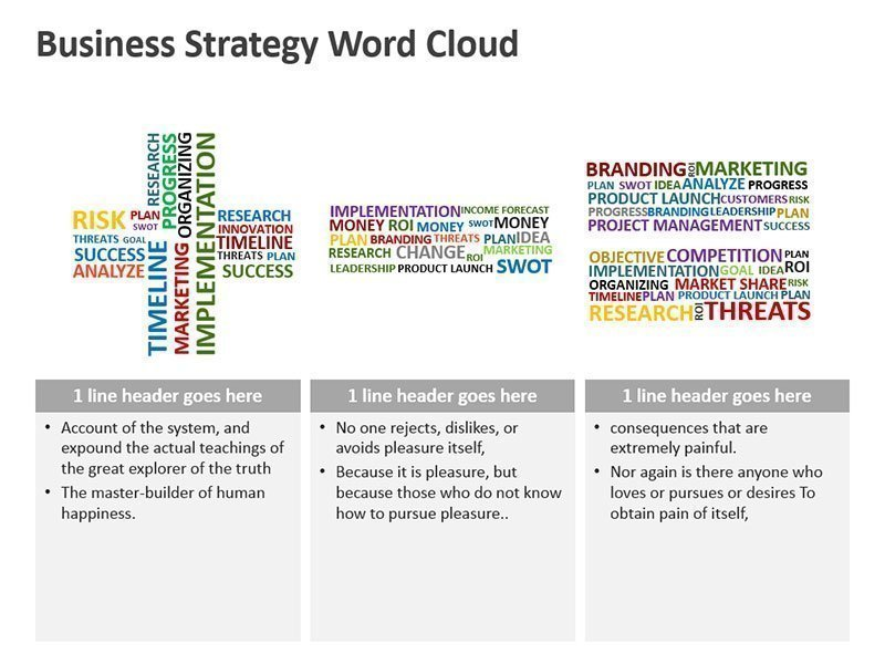 Strategy Word Cloud Business Analysis - PowerPoint Slide