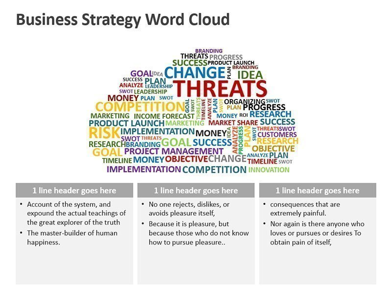 Strategy Word Cloud Business Diagram - PowerPoint Slide
