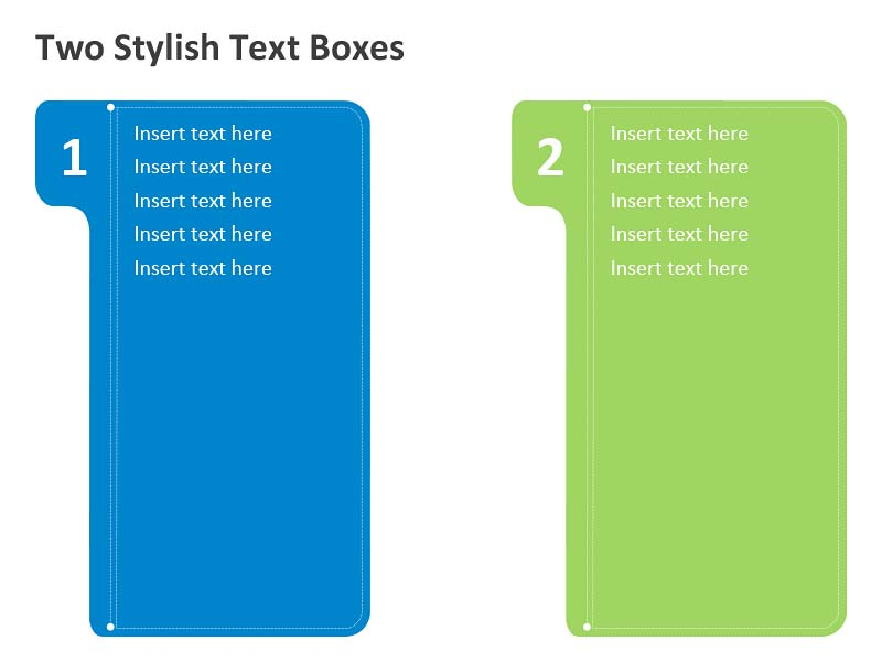 Two Stylish Text Boxes - PowerPoint Slides