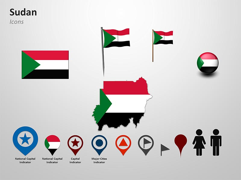 Sudan National Flag-Themed Pointers PPT