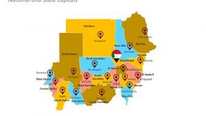Sudan State Capitals PPT Map