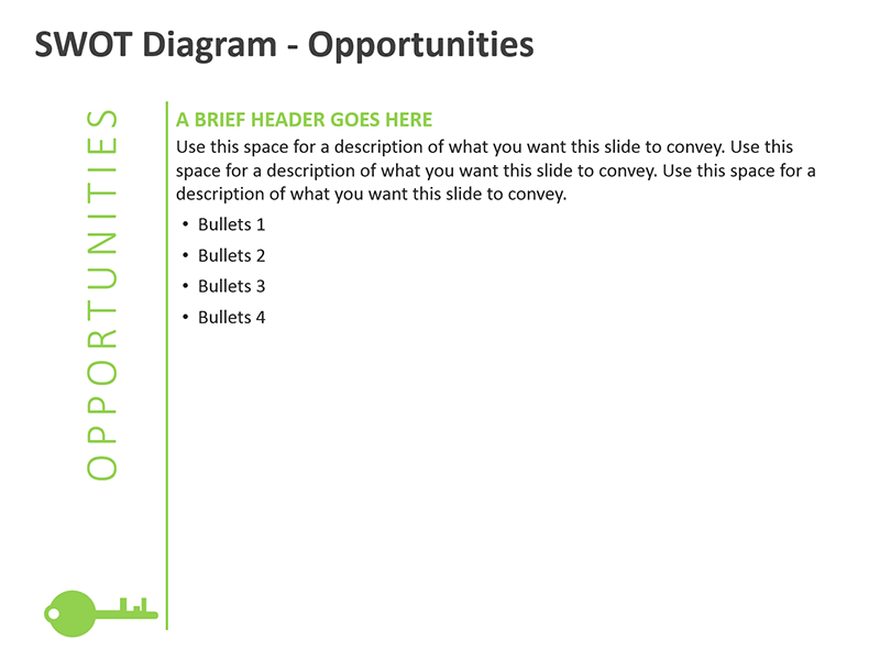 Opportunities SWOT Diagram PPT Slide