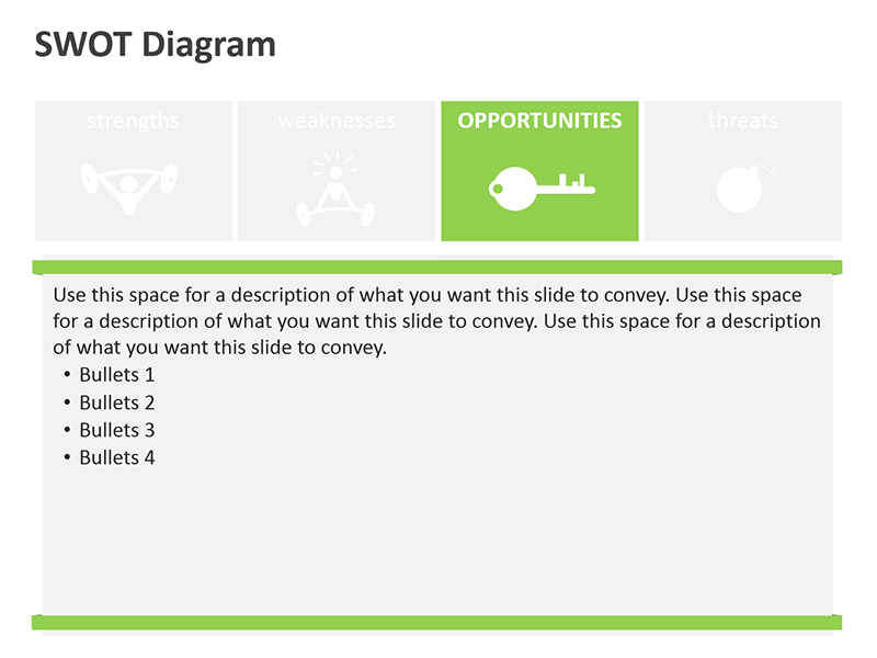 Editable PPT SWOT Diagrams - Opportunities