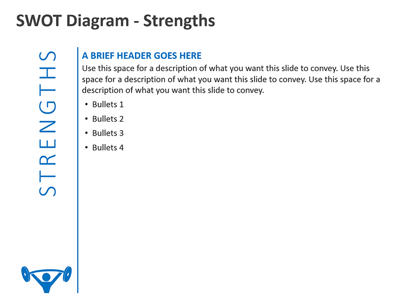 Editable PPT SWOT Diagrams - Strengths