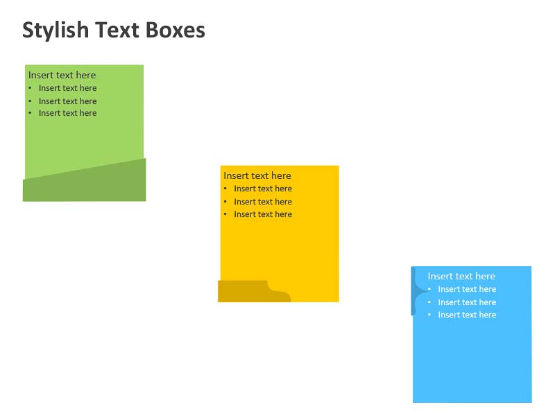 Stylish Text Boxes - Editable PowerPoint Design
