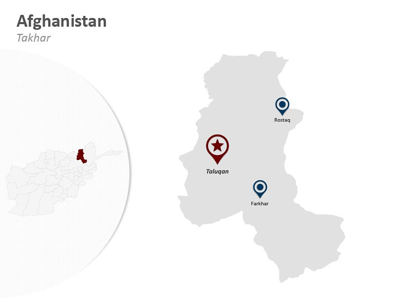 Map of Afghanistan - Takhar