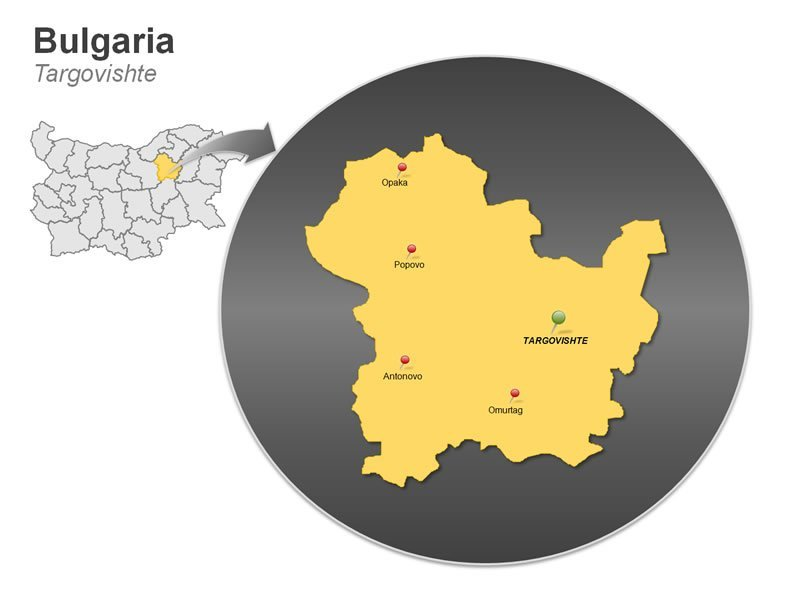 PPT Map of Bulgaria - Targovishte