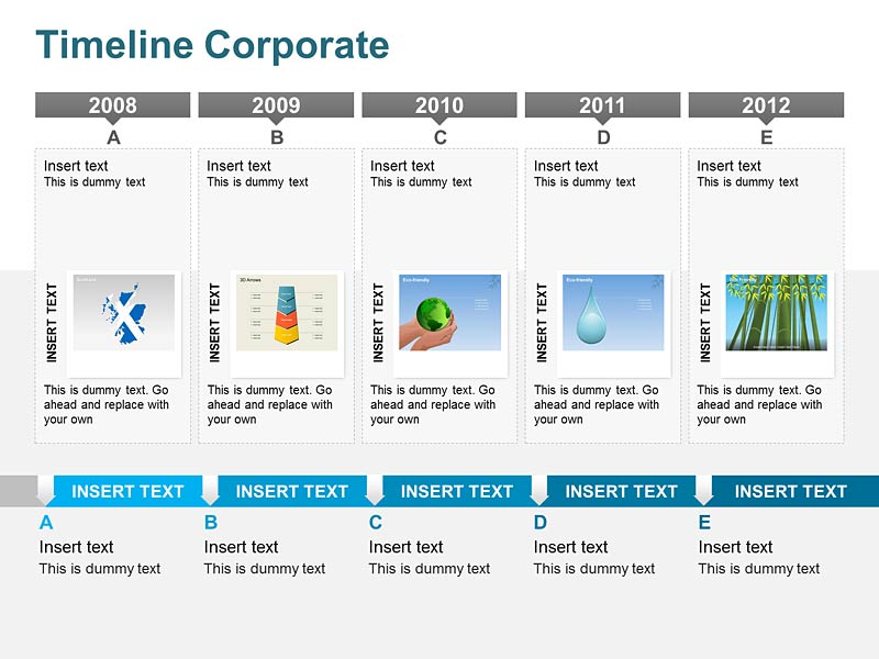 Business Timeline Diagram of PowerPoint