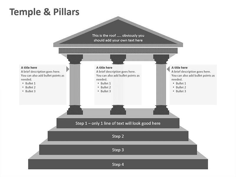 Temple Illustration of PowerPoint