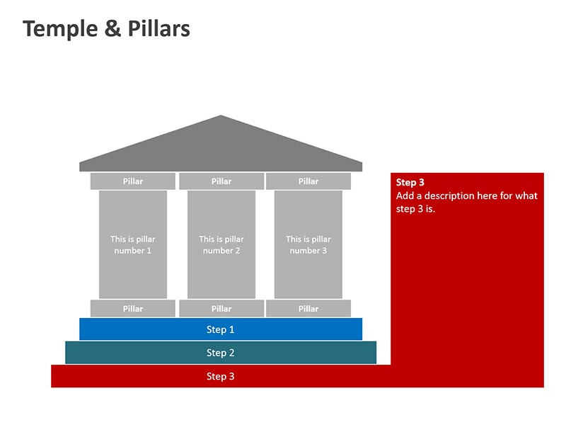 Temple Illustration - PPT Slide