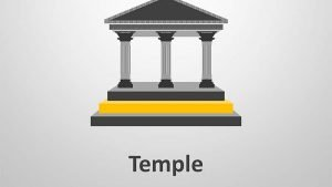 Editable PowerPoint Illustration - Temple Icon