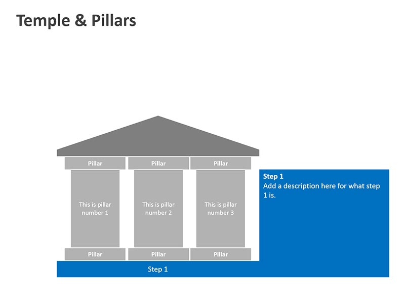 Temple Shapes - PowerPoint Slide
