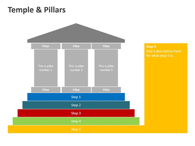 Pillars Shapes PowerPoint