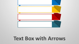 Text Box wth Arrow Headers - Editable PowerPoint Presentation